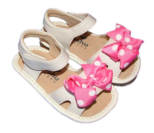MOOSHU-Trainers-Squeeker-Shoes-NEW-White-Bow